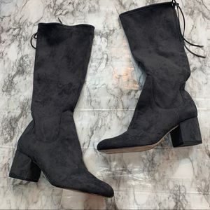 Sam Edelman Gray High Heel Tall Boots Size 9.5